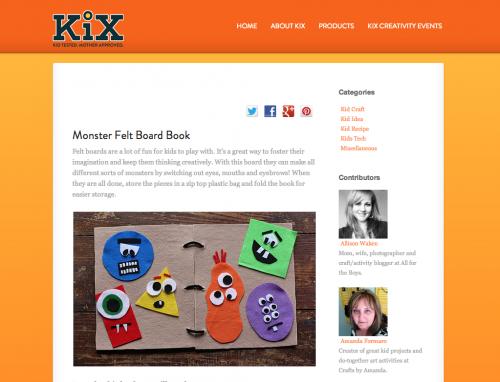 Find Amanda Formaro on KixCereal.com