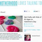 Live Valentine Craft Show on The Motherhood