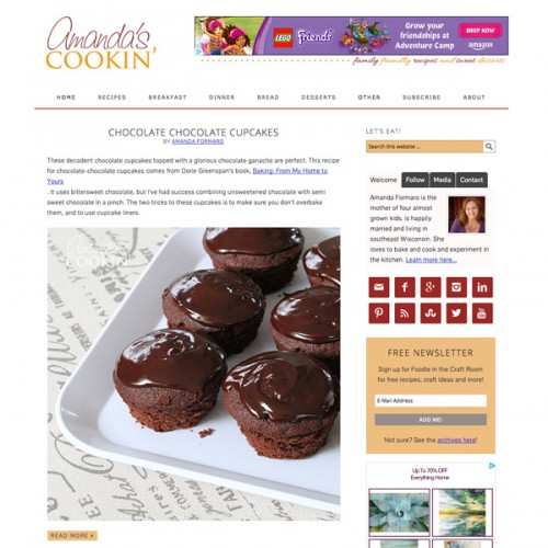 Amanda's Cookin' is a blog by Amanda Formaro