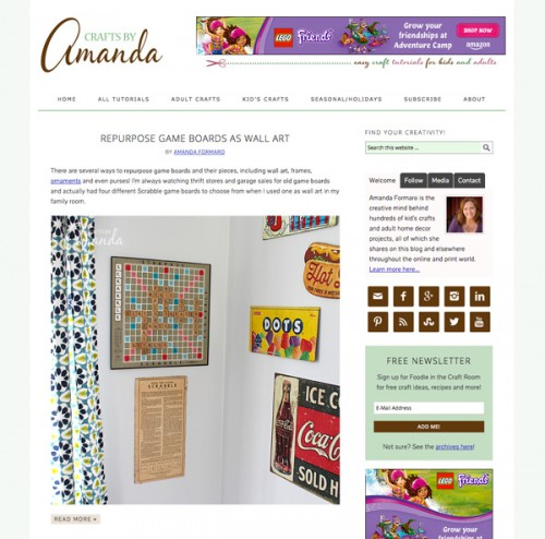 Crafts by Amanda is a blog by Amanda Formaro
