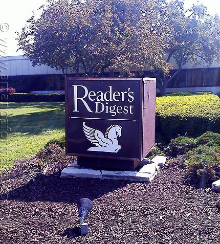 Reader's Digest sign