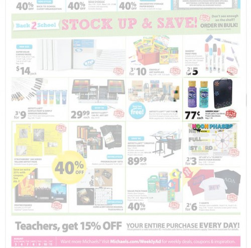 Featured in Michael's Sale Flyer