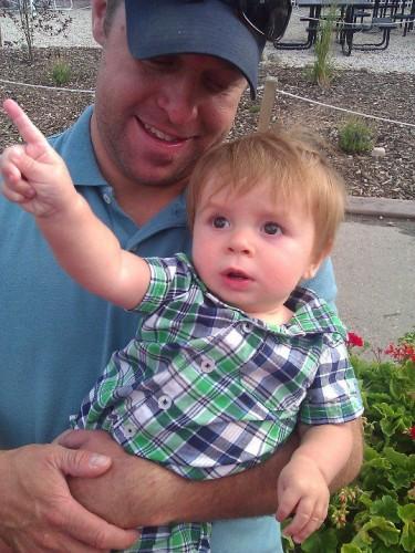 Josh holding Caleb, Park City, UT, Evo Conference - AmandaFormaro.com
