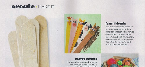 Craft Stick Farm Animals in Family Fun Magazine