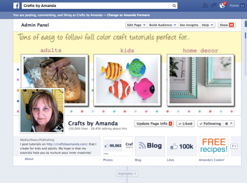 100,000 Likes: A Milestone for Crafts by Amanda